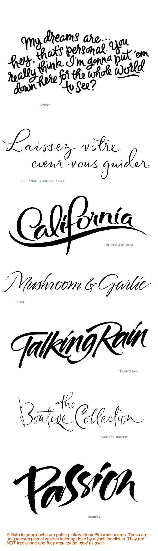 Hand_Lettering_for_Advertising_Iskra_Copyright by Iskra Johnson/calligraphy Don't use these as clipart. They may not be used as such.