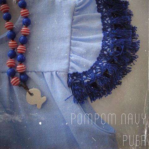 #puerloja#almada#kidsfashion#bluenavystyles#pompom Tamanhos: 1A/ 2A/ 3A/ 4A/ 6A/ 8A