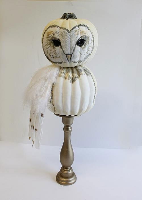 This is a such a fresh and creative no-carve owl pumpkin idea by  DecoArt .        If you are into wise owls. Found via  Country Livin...