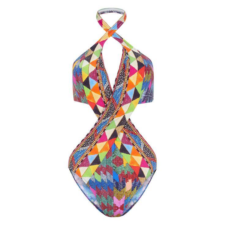 """Gottex"" Multi Colour Print Swim Costume - TK Maxx"