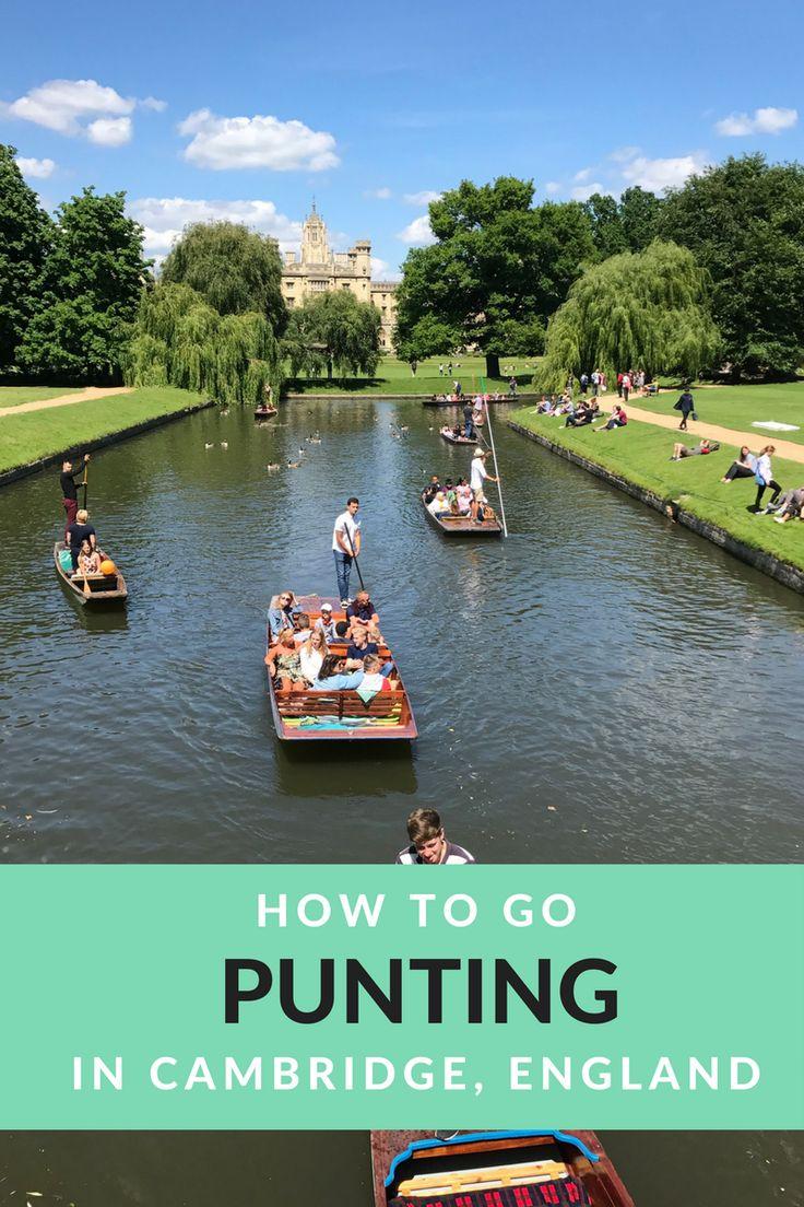 Cambridge England | Punting Cambridge | United Kingdom | English heritage | British summer