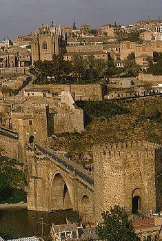 San Martin Bridge in Toledo - Castilla-La Mancha, Spain