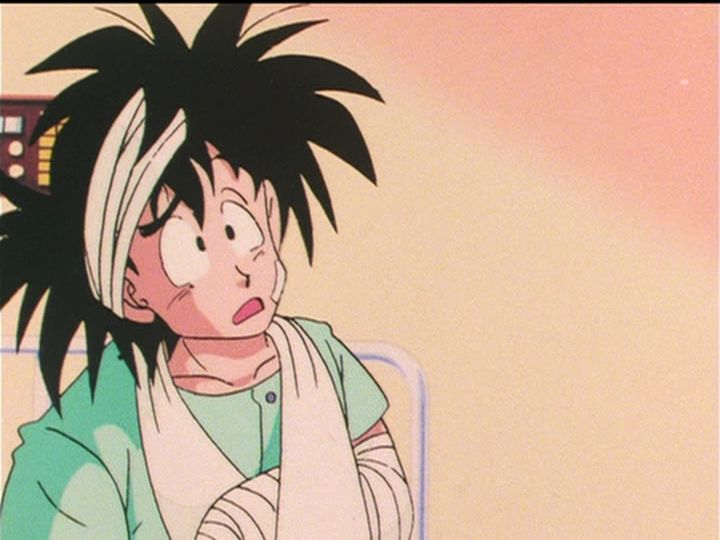 Lol this is when chichi dries Goku's hair with a towel XD