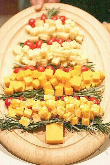 Christmas party cheese platter. G;)