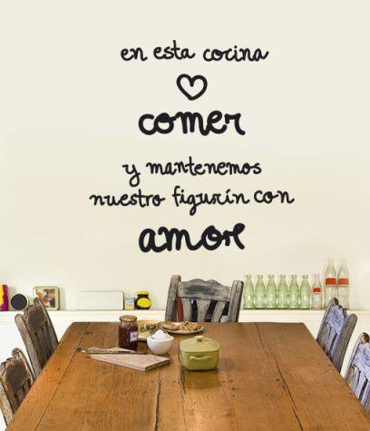 17 best images about tus frases on pinterest facebook for Vinilos de cocina