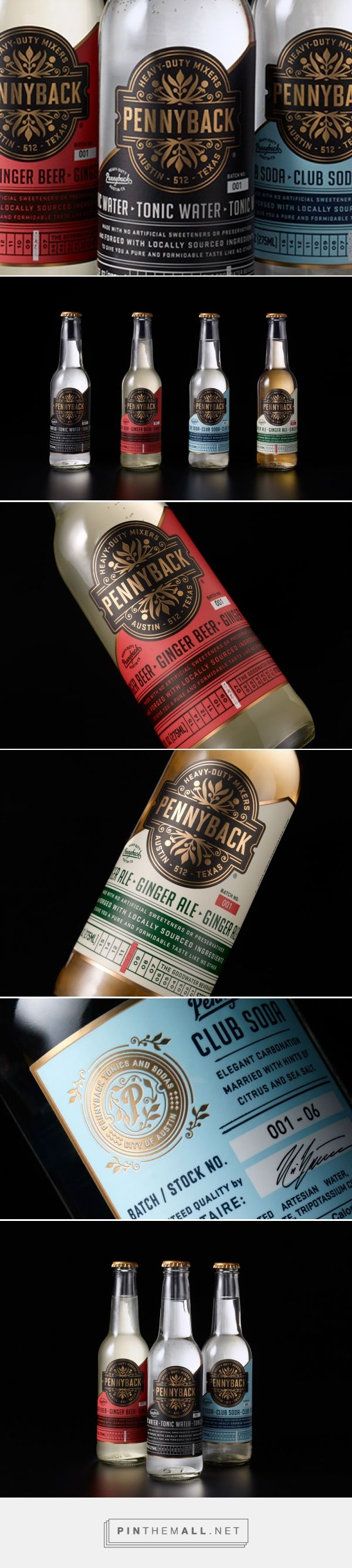 Pennyback mixers packaging design by Chad Michael Studio - http://www.packagingoftheworld.com/2018/02/pennyback.html