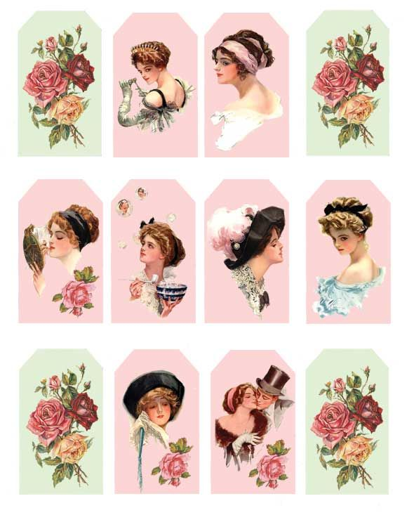 Gorgeous Victorian tags from So Shabby Pink