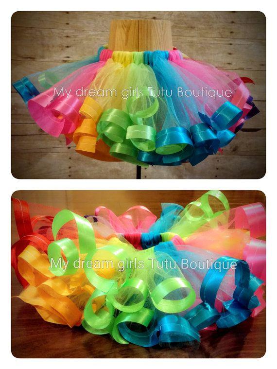 Candy Land tutu candyland tutu ribbon trim por MyDreamGirlsTutus