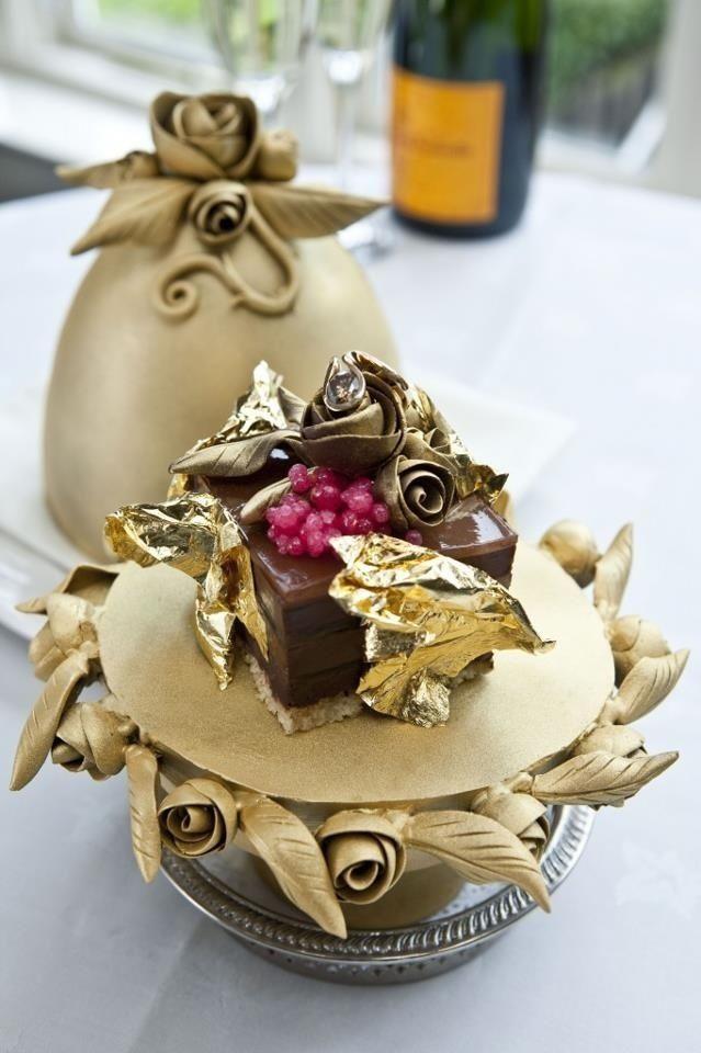 Embellished French truffle