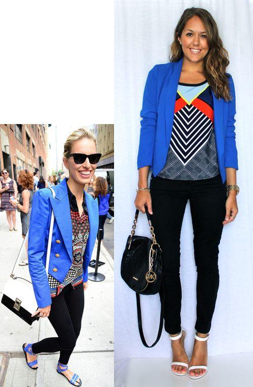 Karolina's Cobalt Blazer — J's Everyday Fashion