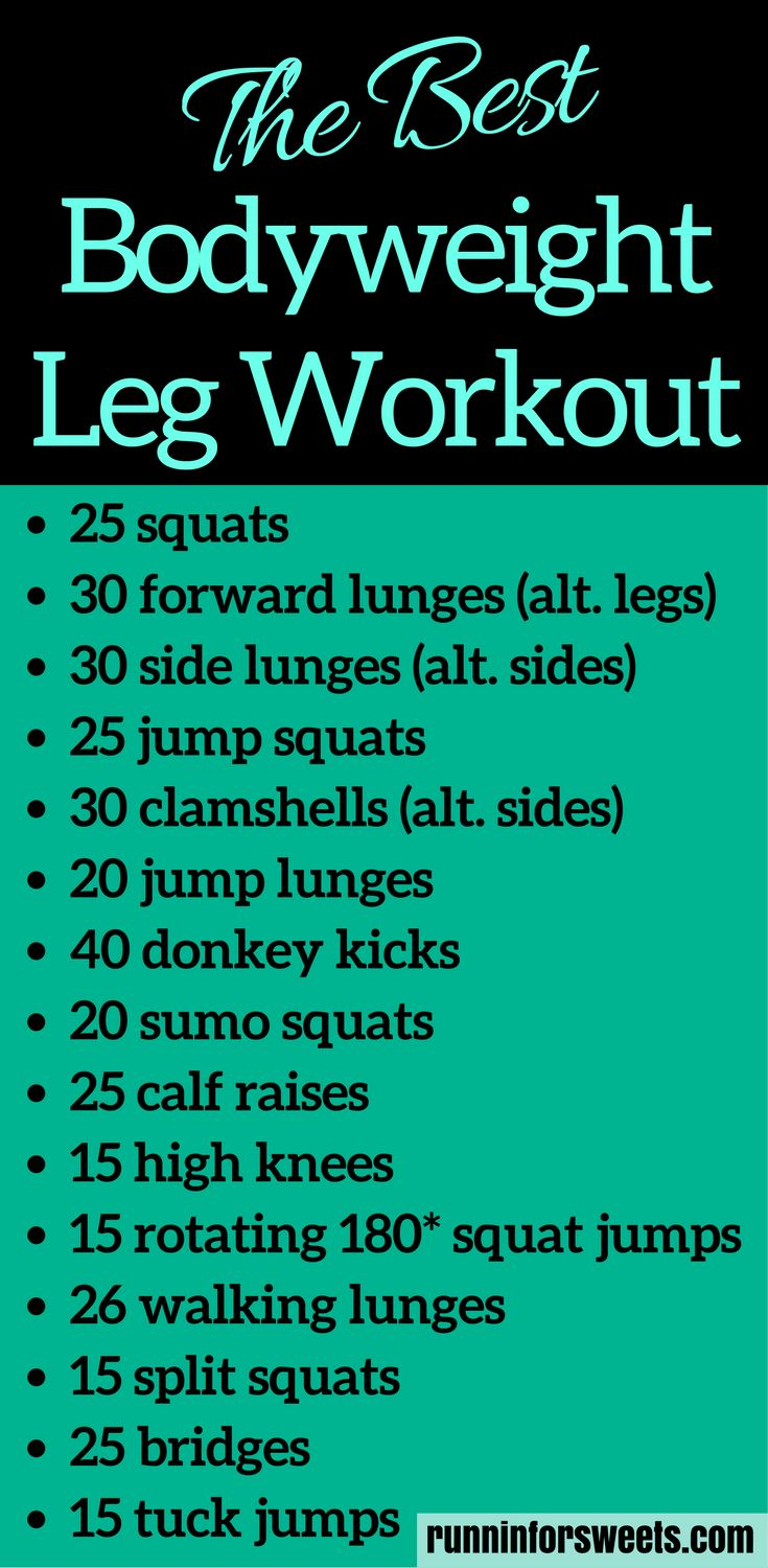The Best Bodyweight Leg Workout for Runners | From the ...