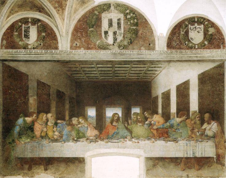Da Vinci's Last Supper; Santa Maria delle Grazie, Milano Italy #HolyThursday