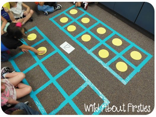 Maybe on a poster or table cloth?   Wild About Firsties!: Ten Frames & Alphabet Fun!