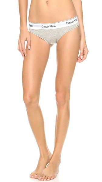 Calvin Klein Underwear Modern Cotton Bikini (Grey S)