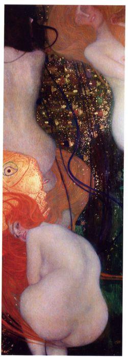 Goodness gracious I love Klimt. Gustav Klimt, Goldfish, 1901