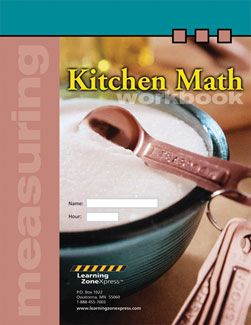 Kitchen Math Workbook download and printable sheets