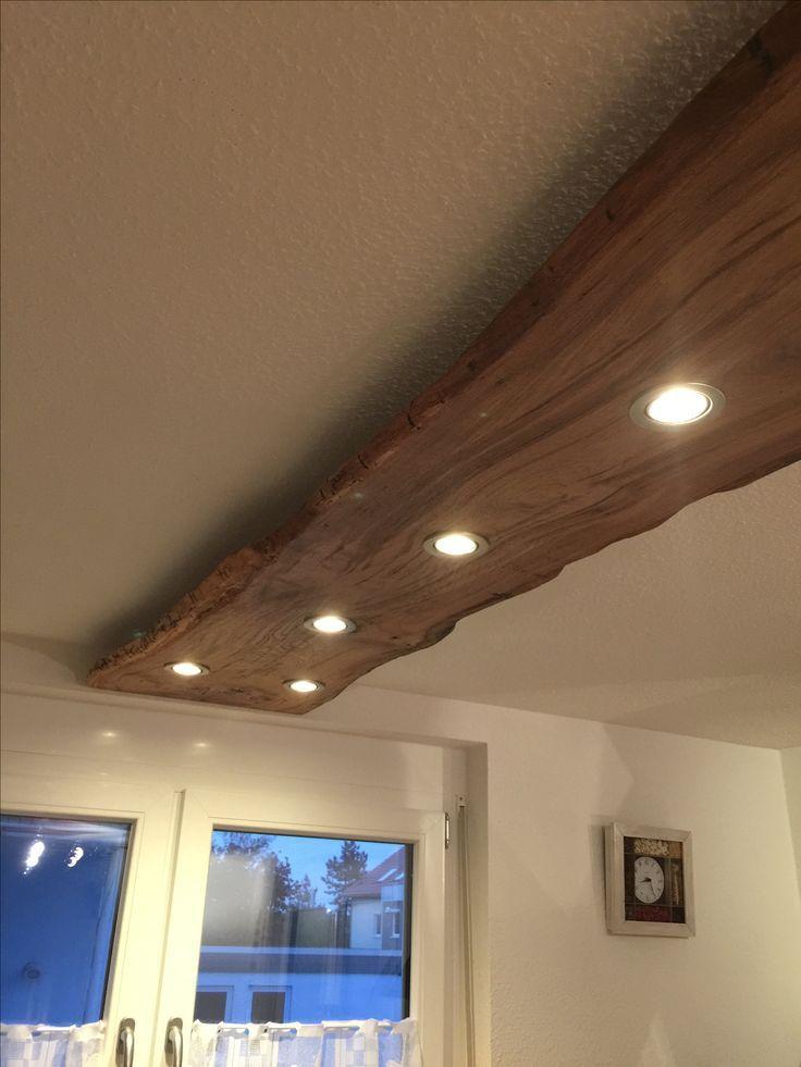 Rustikale Downlights aus Holzbohlen