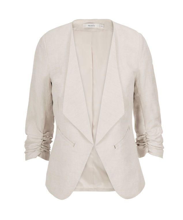 Linen Drape Front Blazer, Linen/Neutral #rickis #summer #summer2017 #summerfashion #rickisfashion #poppyfields #red #poppyred #colourofthemoment #loverickis