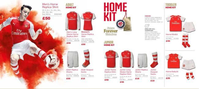 LEAKED: Arsenal's complete new Puma catalogue