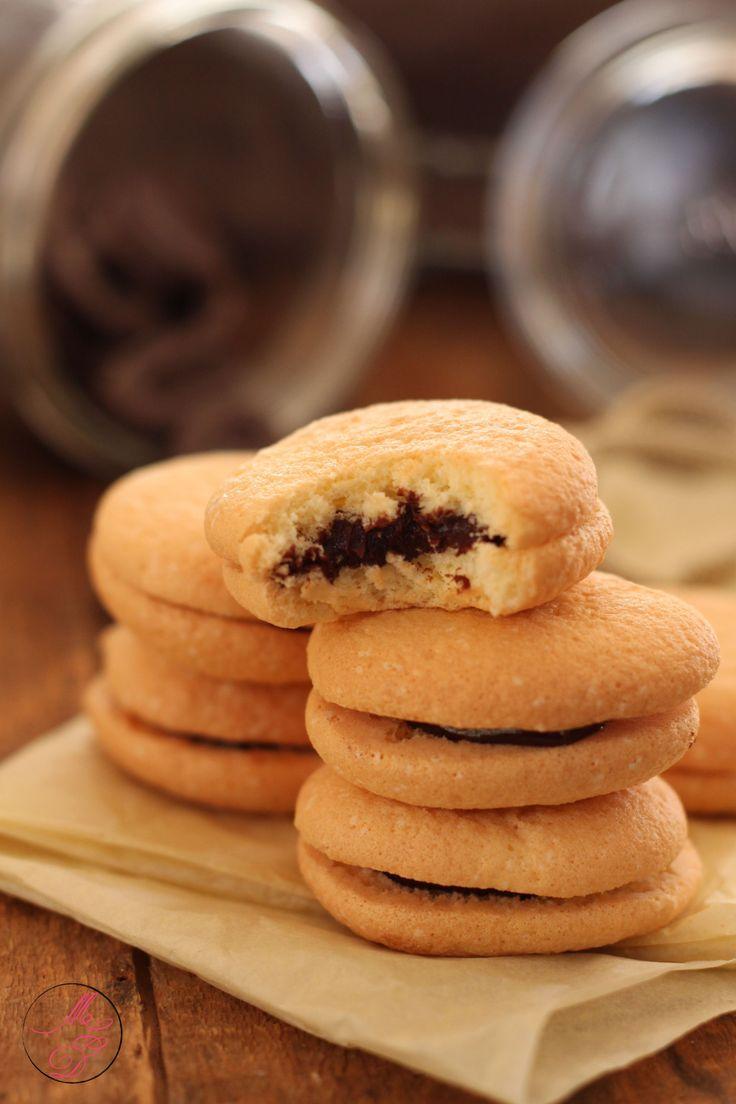 Biscuits moelleux à la ganache chocolat - Pâte à génoise