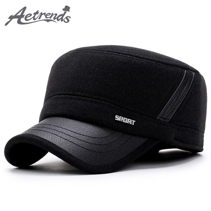 AETRENDS] 2017 New Winter Hats for Men Military Cap with Ear Flaps Army Sailor Captain Caps Dad Hat Z-5900 Like it? Visit our store