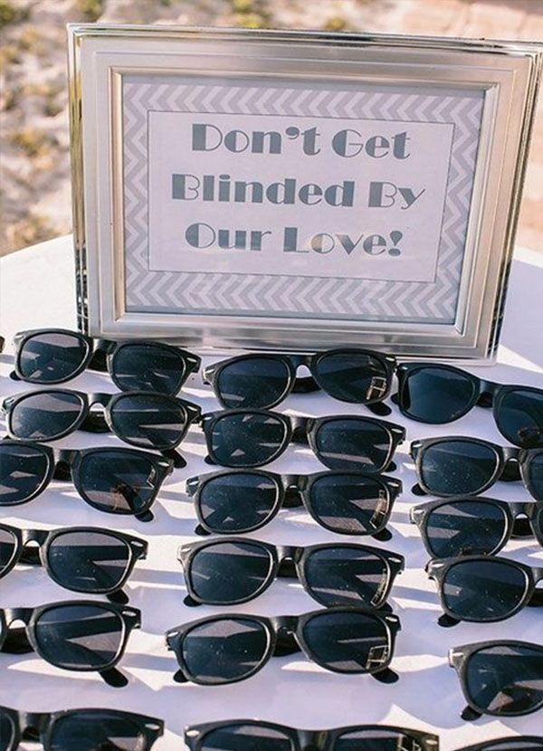 destination wedding giveaway sunglasses are a great idea - Destination Wedding Ideas