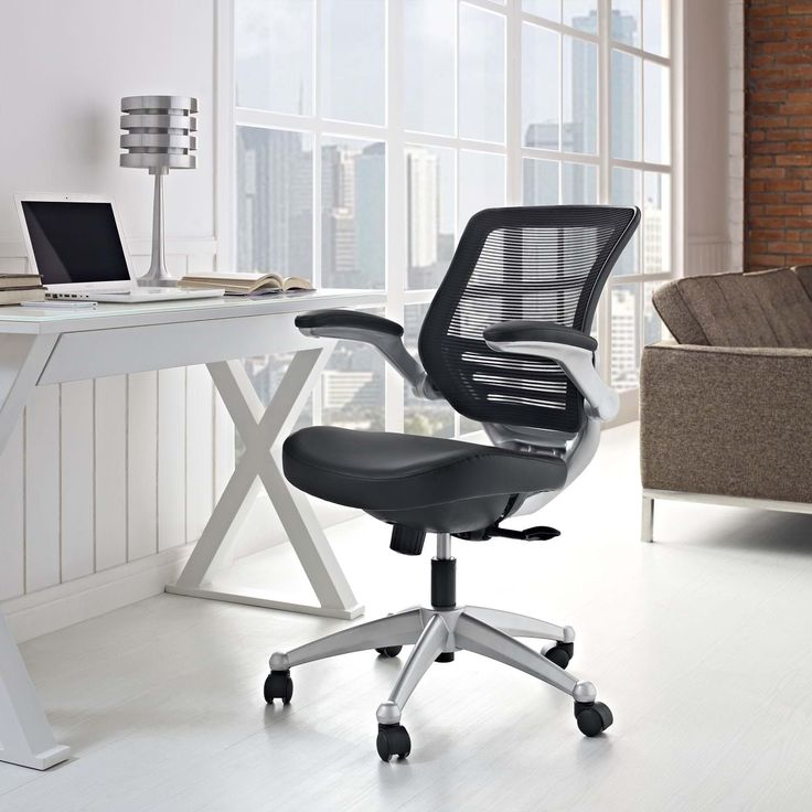 Edge Leather Office Chair, Black - Welcome to a new era in functional comfort. The Edge office chair combines old time charm with cutting edge ergonomics to deliver one comprehensive seating experience. Every feature imaginable in a chair is available as soon as you sit down. This is a chair that you can conform to behave exactly how you need it. The Edge Office Chair – giving you the comfort you need when you need it most. Set Includes: One - Edge Leather Office Chair with Mesh Back…