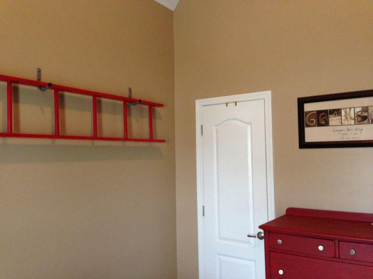 Ladder Decor For Toddler Firetruck Room Kids Bedrooms Pinterest