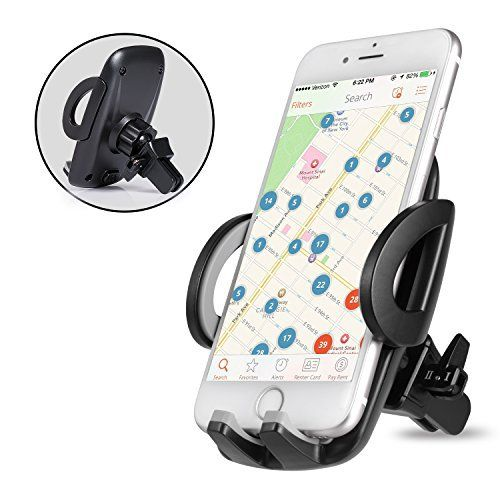 Support Telephone Voiture Ventilation – Auto Universel à Angle Réglable pour iPhone 7/6s/6/SE/5/5s,Samsung Galaxy Galaxy…