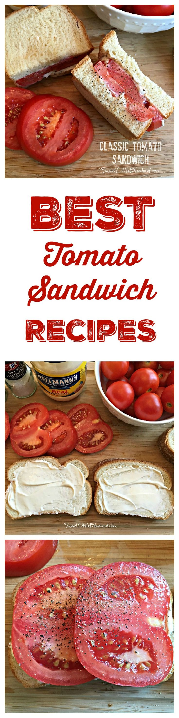 THE BEST TOMATO SANDWICH RECIPES -  Wondering what to do with all those summer garden tomatoes? Here are some of the BEST sandwich ideas, new and old.