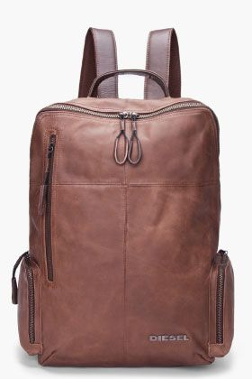 Diesel men's brown leather forward backpack #style: Diesel Backpacks, Brown Leather Backpack, Leather Forward, Diesel Be, Men Brown, Forward Backpacks, Leather Backpacks, Leather Bags, Men Backpacks