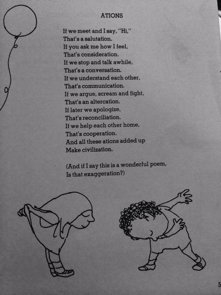 Shel Silverstein - Ations | Poems | Pinterest | Shel ...