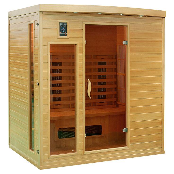 Prosta w formie sauna infrared przeznaczona dla max. 4 osób, wyposażona w koloroterapię, radio z...