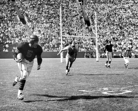 Chicago Bears legend and Pro Football Hall of Famer George McAfee was a versatile, explosive player,... - Vic Stein/Getty Images