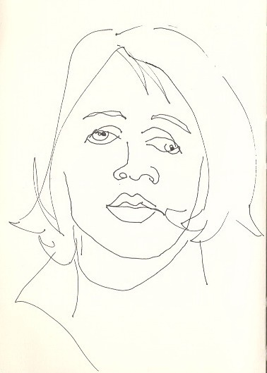 Blind Contour Line Drawing Face : Best images about blind contour pieces on pinterest