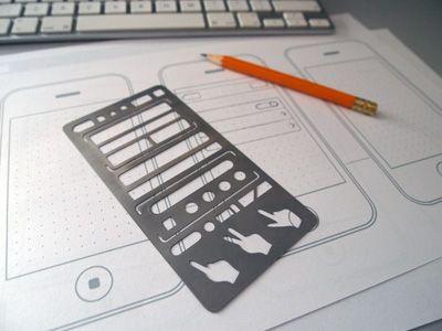 universal mobile UI design stencil.