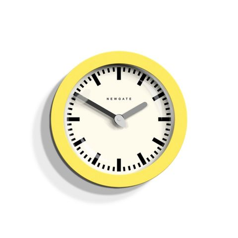 The Andromeda wall clock in yellow by Newgate Clocks - 30 cm