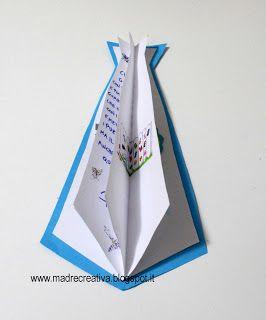◕‿◕ biglietto-cravatta per la festa del papà ♡