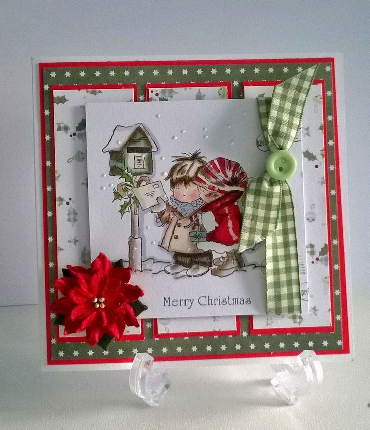 Lili of the valley(lotv) Handmade BOY and GIRL,christmas card, can personalise. in Crafts, Cardmaking & Scrapbooking, Hand-Made Cards | eBay