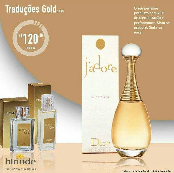 Perfume Tradução Gold Hinode N° 24 Referência Olfativa J'Adore.   Acesse nossa loja para comprar.   Loja online.hinode.com.br/578847  Siga-nos nas Redes Sociais com a Tag @eternizandomomentoshinode