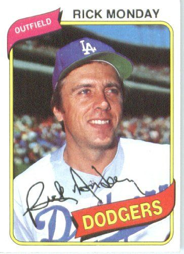 Rick Monday Los Angeles Dodgers (Baseball Card) 1980 Topps #465 by Topps. $2.95. 1980 Topps #465 - Rick Monday