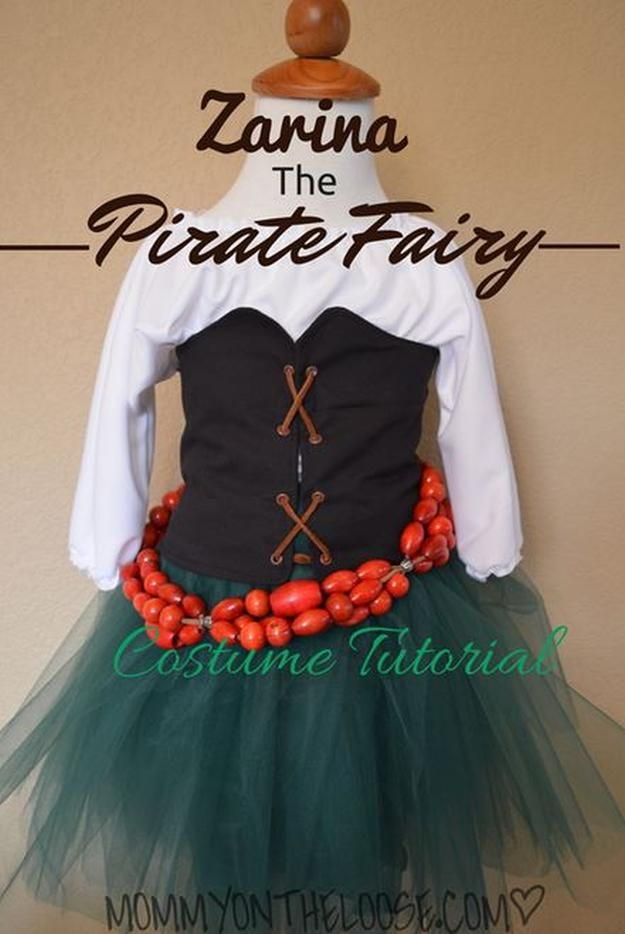 Zarina the Pirate Fairy Costume Tutorial | 25 DIY Pirate Costume Ideas, check it out at http://diyready.com/25-argh-tastic-diy-pirate-costume-ideas