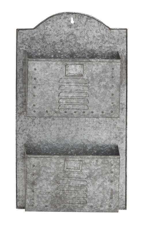 Details About Vintage Hanging Metal Wall Pocket Basket