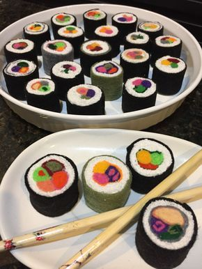 Let's have a Sushi Party made from Felt❣Dramatic Play Food, check out my website for more pretend food !