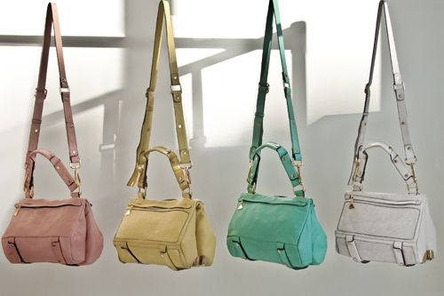 Love these pop mixed with pastel trends this season