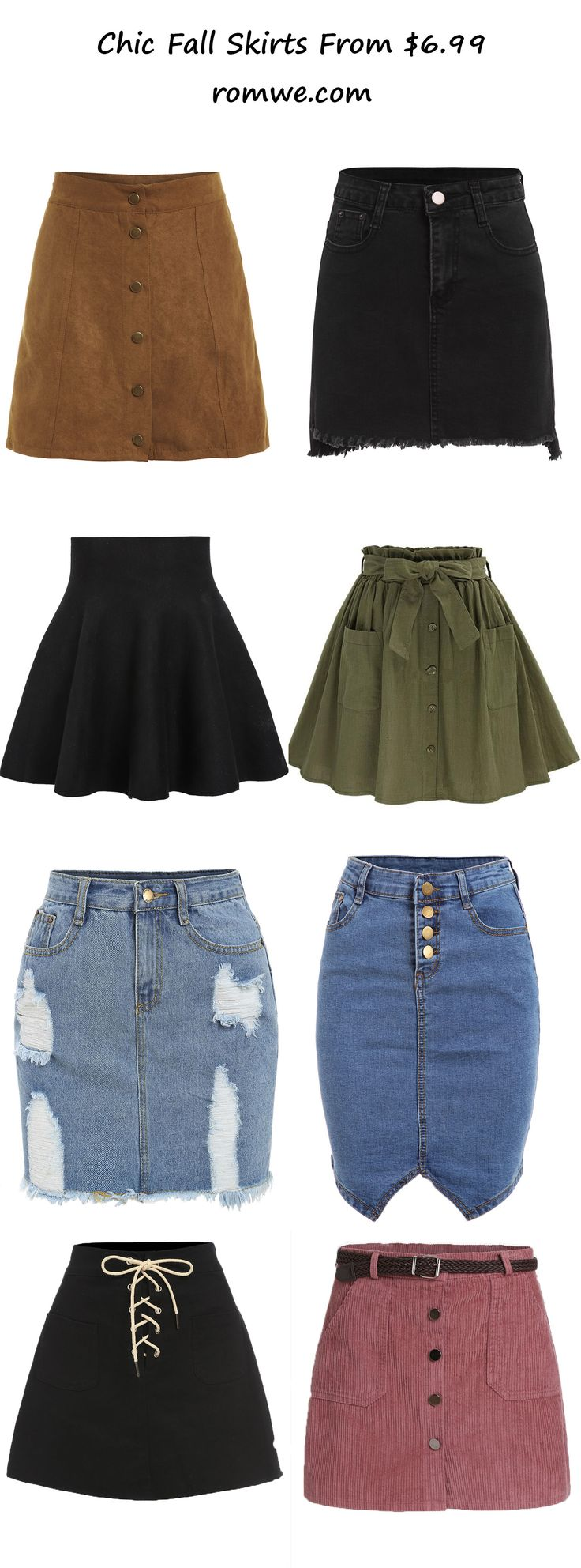 fall chic skirts 2017 - romwe.com