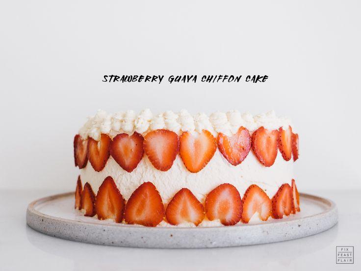 Strawberry Guava Chiffon Cake Recipe — Fix Feast Flair