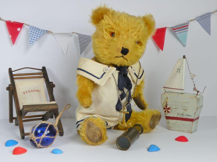Sailor Jack a 1950s Chiltern bear  www.onceuponatimebears.co.uk