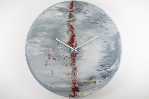 Office Wall Art Investment art Grey Clock Extra Large Unique Wall light Original Abstract painting Glass Art Glass clock Uk Seller by ReformationsGlassArt Handmade Glass Clocks - by Craig Anthony. http://ift.tt/15oC6FM . Find it now at http://ift.tt/2oqWIGw!