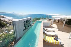 Oceans Mooloolaba 4 bedroom penthouse rooftop lap pool.